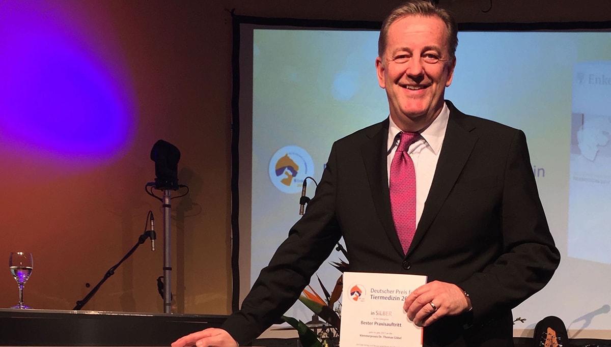 Bester Praxisauftritt - Silber beim Deutschen Preis für Tiermedizin