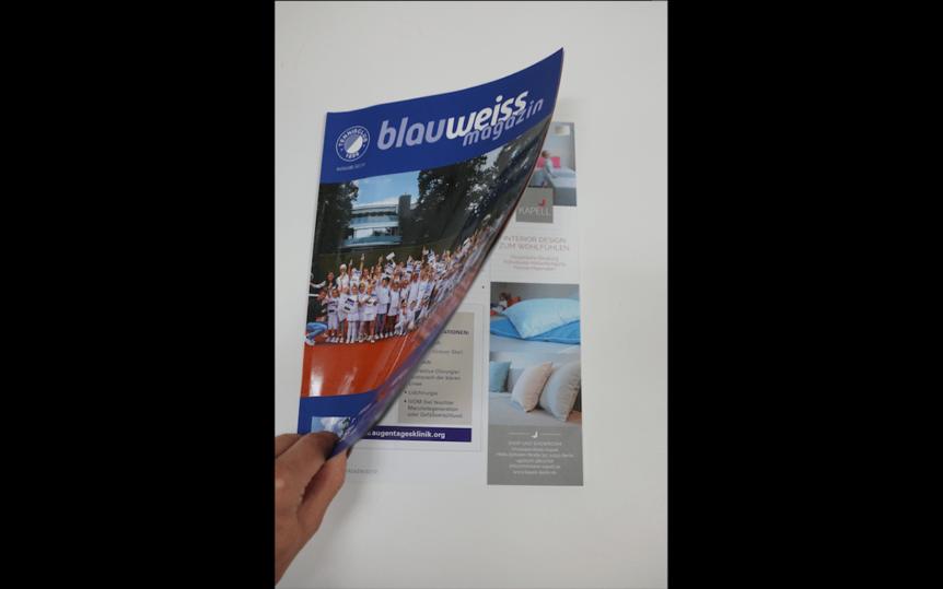 Anzeigengestaltung für das blauweiss magazin