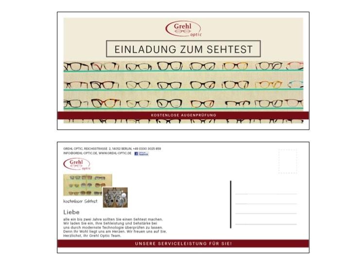 Direktmarketing für Grehl Optic